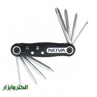 پیچگوشتی چاقویی صنعتی 8 عددی نووا NTK-1139