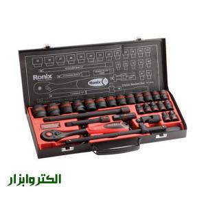 جعبه بکس 27 پارچه مشکی فشار قوی رونیکس کد 2627