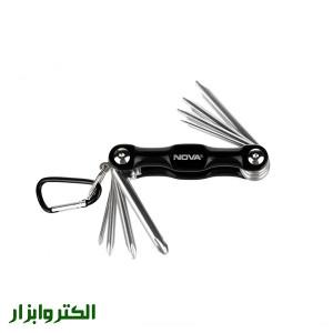 پیچ گوشتی چاقویی دو سو و چهار سو 8 عددی نوا مدل NTK-1009